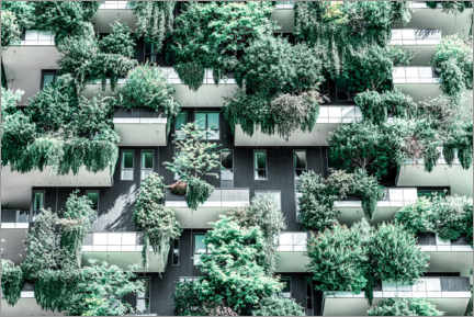 Aluminium print  Bosco Verticale or Vertical Forest Towers In Milan - Radu Bercan