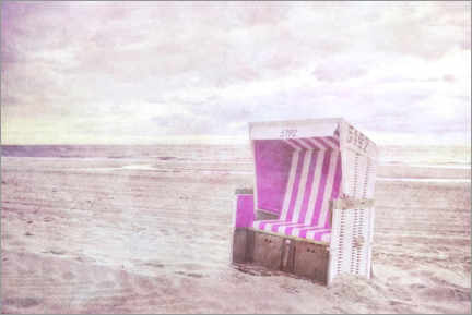 Gallery print  Pink beach chair - Claudia Moeckel