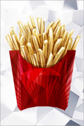 Premium poster French fries