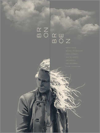 Premium poster  Bron/Broen - the bridge - Fourteenlab
