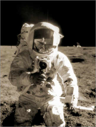Aluminium print  Astronaut Charles Conrad on the moon - NASA