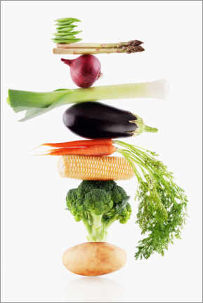 Foam board print  Vegetables in balance - Caia Image