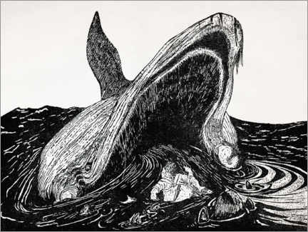Foam board print  How the whale got to its throat - CCI Archives
