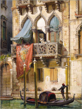 Premium poster Palazzo Contarini in Venice (House of the Desdemona)