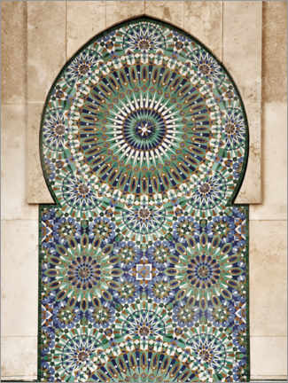 Premium poster  Decorative, Moroccan mosaic - Art Couture