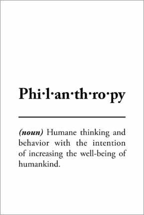 Canvas print  Philanthropy - definition - Typobox