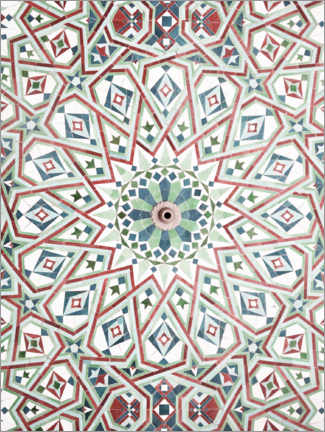 Wood print  Moroccan mosaic - Art Couture