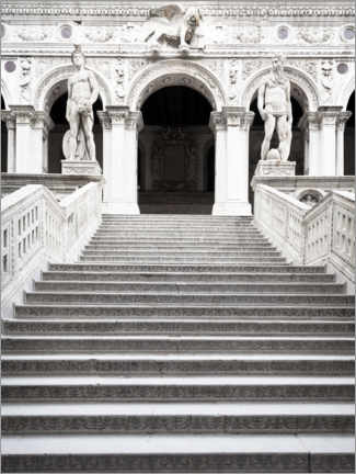 Premium poster Marble stairs in Venice