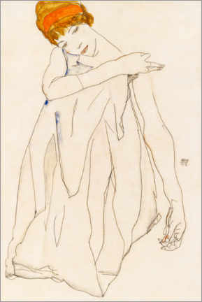 Acrylic print  The Dancer - Egon Schiele