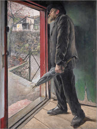 Aluminium print  Has it stopped raining? - Laurits Andersen Ring