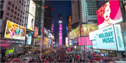 Premium poster  TImes Square at night - Jan Christopher Becke