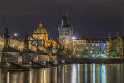 Canvas print  Prague at Night - Ramdan Rashid
