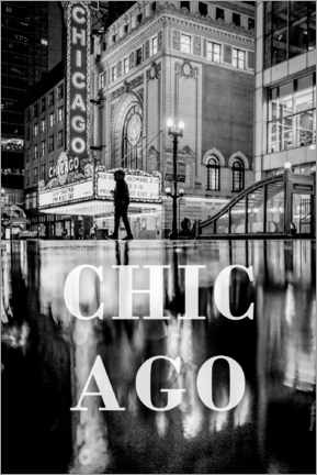 Premium poster  Cities in the rain: Chicago - Christian Müringer
