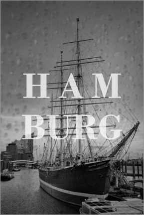 Canvas print  Cities in the rain: Hamburg - Christian Müringer