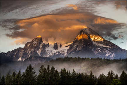 Premium poster Natural spectacle on the Watzmann