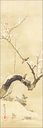 Premium poster  Birds and flowers of the twelve months - Sakai H?itsu