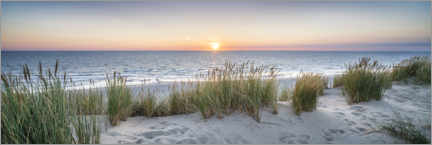 Acrylic print  Sunset at the beach - Jan Christopher Becke