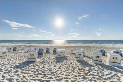 Premium poster Beach vacation on Sylt