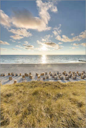 Premium poster Beach chairs on Sylt