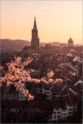 Wall sticker  Old town of Bern during a spring sunset - Marcel Gross