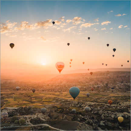 Foam board print  Balloon Flight at Sunrise over Cappadocia - Marcel Gross