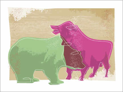Acrylic print  Bull and bear - Thomas Marutschke