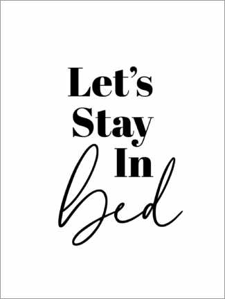 Acrylic print  Let's Stay in Bed - Finlay and Noa