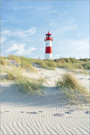 Wood print  List Ost lighthouse on Sylt - Jan Christopher Becke