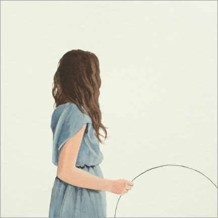 Wall sticker  Young woman with circle - Karoline Kroiss