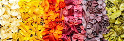 Wood print  Colorful pasta - pixelliebe