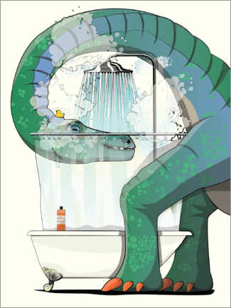 Canvas print  Diplodocus shower - Wyatt9