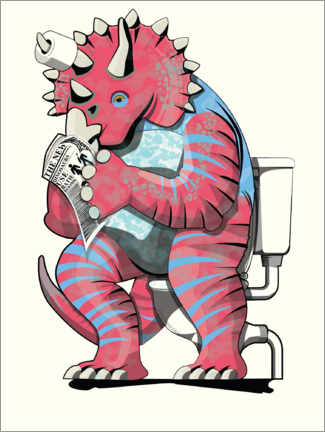 Acrylic print  Triceratops on the toilet - Wyatt9