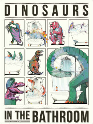 Foam board print  Dinosaurs in the Bathroom - Wyatt9