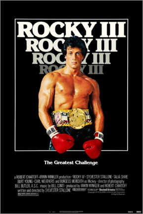 Acrylic print  Rocky III - Entertainment Collection