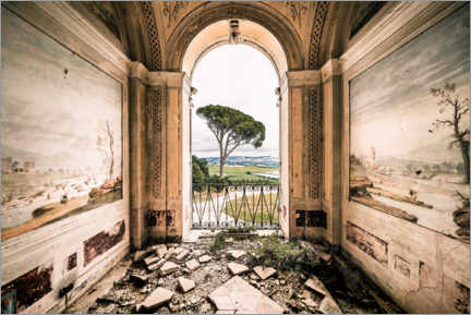 Gallery print  View from a derelict villa in Italy - Irnmonkey