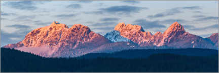 Aluminium print  Golden Ears mountain panorama - Yuri Choufour