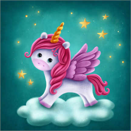 Wall sticker Baby unicorn