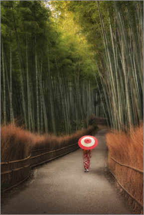 Aluminium print  In the morning in the bamboo forest - André Wandrei