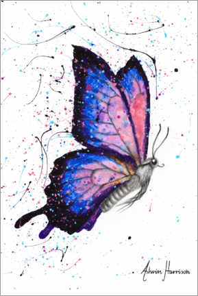 Premium poster Butterfly universe