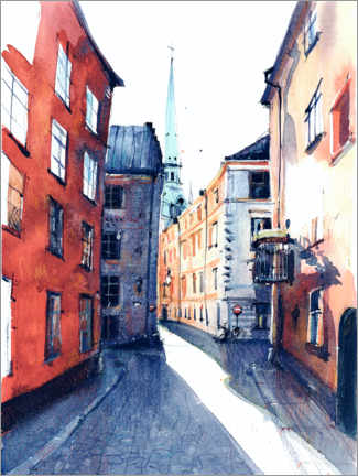 Premium poster  The streets of Stockholm - Anastasia Mamoshina