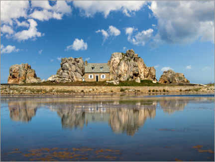 Premium poster  The little house between the rocks, Brittany - Christian Müringer