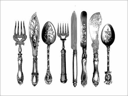 Canvas print  Cutlery - Wunderkammer Collection