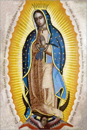Wood print  Virgin of Guadalupe - Miguel Cabrera