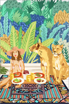 Premium poster  Jungle Breakfast - Uma 83 Oranges