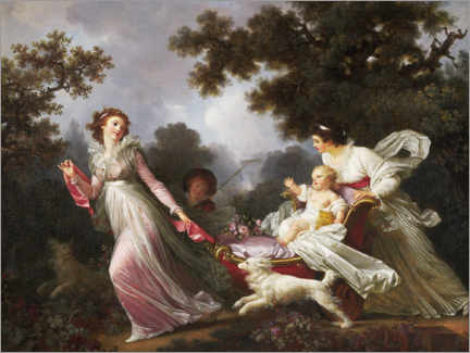 Aluminium print  The beloved child - Jean-Honoré Fragonard
