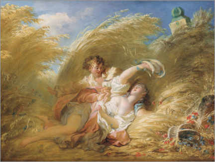 Premium poster  In the wheat - Jean-Honoré Fragonard
