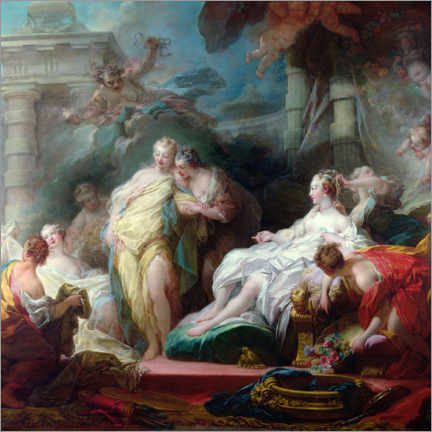 Gallery print  Psyche shows her sisters her cupid gifts - Jean-Honoré Fragonard