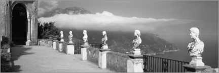 Premium poster Marble busts along a path, Ravello