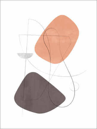 Premium poster Abstract Composition XIX
