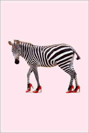 Premium poster  Zebra in high heels - Jonas Loose